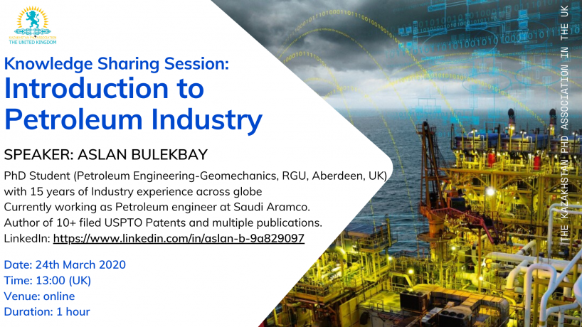 ONLINE KNOWLEDGE SHARING SESSION: INTRODUCTION TO PETROLEUM INDUSTRY