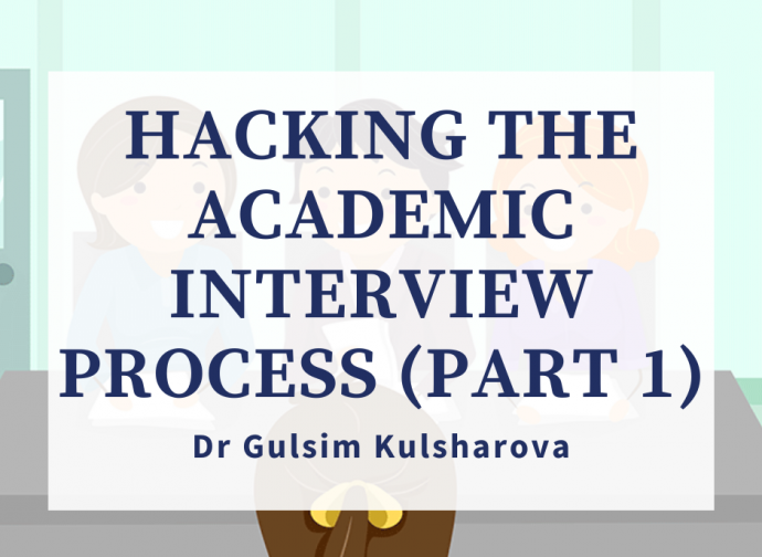 Video Lecture: Hacking the Academic Interview Process (Part 1)